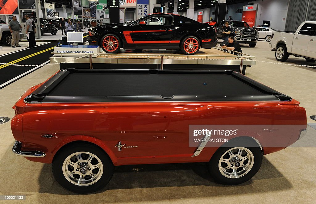 A Mustang Pool Table In Front Of The New Pictures Getty Images - Mustang pool table