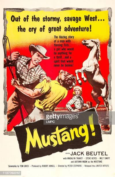 Mustang poster US poster art from left Jack Buetel 1959