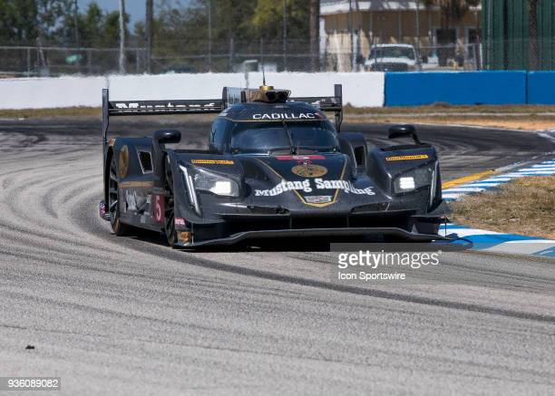 Mustang Sampling Racing Drivers Christian Fittipaldi Filipe Albuquerque Joao Barbosa during 12 hours of Seabring Race on March 17 2018 at Sebring...