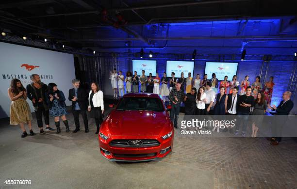 Mustang Unleashed Capsule Collection revealed with Ford Anna Sui Pamela Love ROGAN and Parsons Design Lab at Highline Stages on September 18 2014 in...