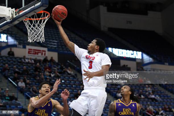 Mustangs guard Sterling Brown drives to the basket during the second half of the American Athletic Conference quarterfinal game between East Carolina...