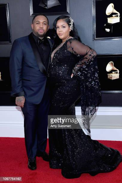DJ Mustard and Chanel Dijon attend the 61st Annual GRAMMY Awards at Staples Center on February 10 2019 in Los Angeles California