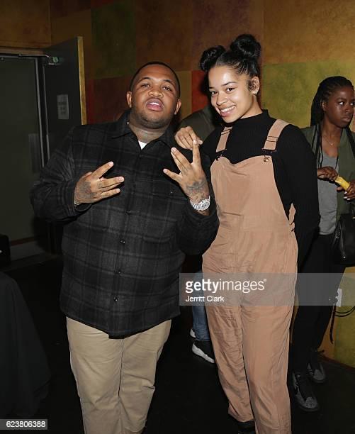 Mustard and Ella Mai attend Ella Mai CHANGE Listening Event at Thom Thom Club on November 16 2016 in Santa Monica California