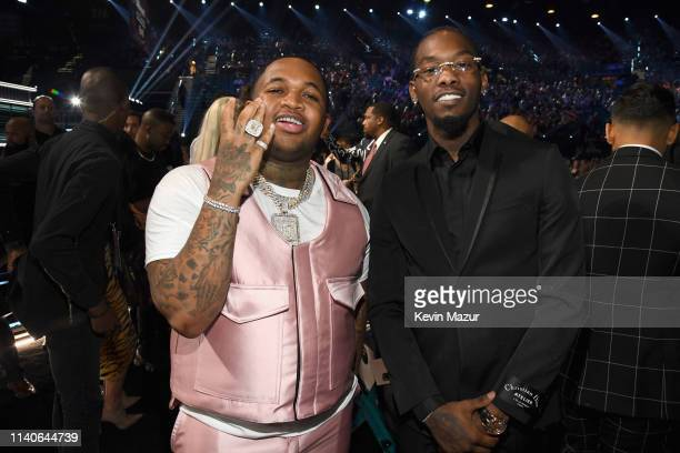 Mustard and Offset of Migos attend the 2019 Billboard Music Awards at MGM Grand Garden Arena on May 1 2019 in Las Vegas Nevada