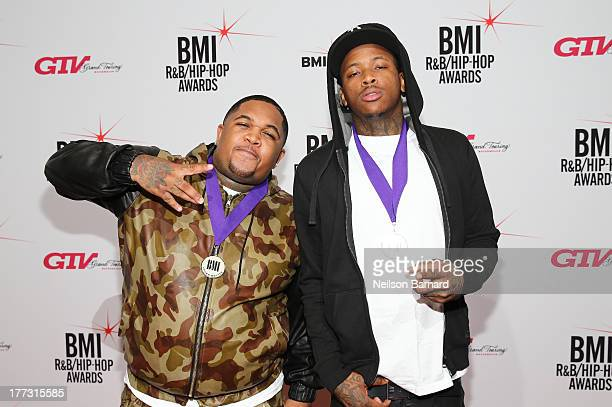 Mustard and YG attend 2013 BMI RB/HipHop Awards at Hammerstein Ballroom on August 22 2013 in New York City