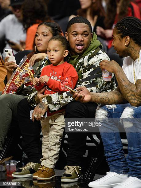 Mustard attends a basketball game between the Chicago Bulls and the Los Angeles Clippers at Staples Center on January 31 2016 in Los Angeles...
