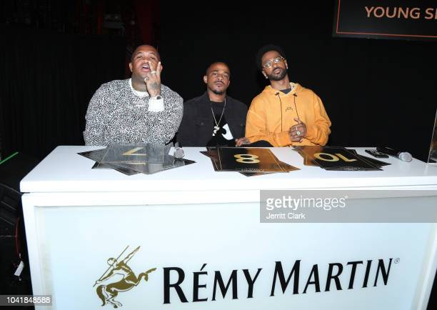 Mustard DJ Mano and Big Sean attend Remy Martin Crowns the Winner of Producers Series Season 5 with Big Sean Mustard on September 26 2018 in Los...