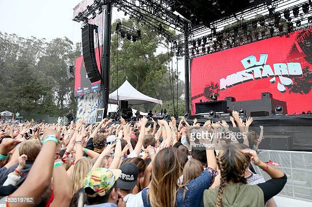 Mustard performs at the Twin Peaks Stage during day 3 of the 2015 Outside Lands Music And Arts Festival at Golden Gate Park on August 9 2015 in San...