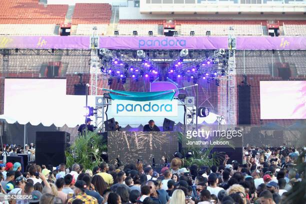 Mustard performs onstage at Pandora Sounds Like You Summer at Los Angeles Memorial Coliseum on July 29 2017 in Los Angeles California