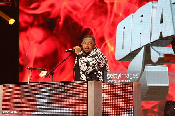 Mustard performs onstage during the BET Hip Hop Awards 2014 at Boisfeuillet Jones Atlanta Civic Center on September 20 2014 in Atlanta Georgia
