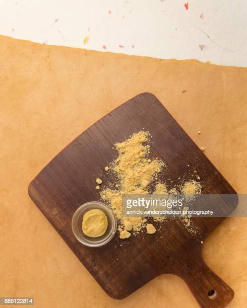 Mustard powder and prepared mustard.