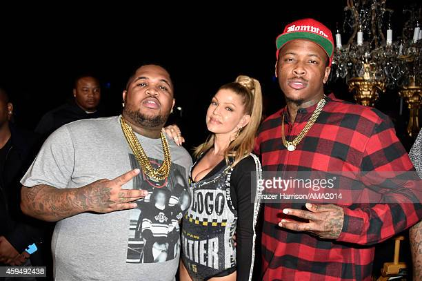 DJ Mustard recording artist Fergie and recording artist YG attend the 2014 American Music Awards at Nokia Theatre LA Live on November 23 2014 in Los...