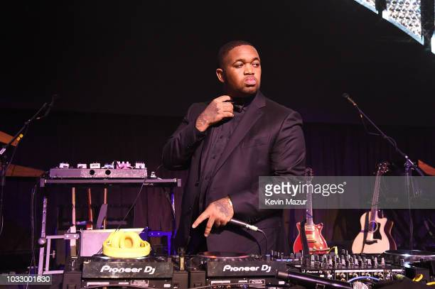 Mustard spins during Rihanna's 4th Annual Diamond Ball benefitting The Clara Lionel Foundation at Cipriani Wall Street on September 13 2018 in New...
