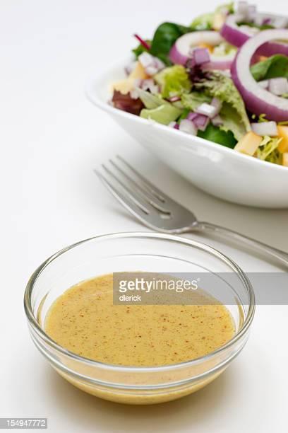 マスタードのビネグレットソースサラダのドレッシング