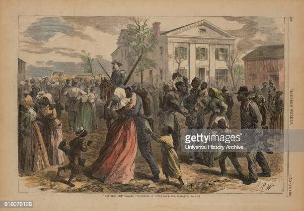 Mustered Out Colored Volunteers at Little Rock Arkansas Harper's Weekly May 19 1866