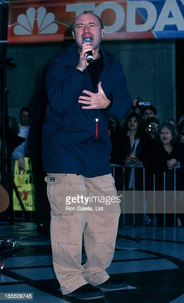 Musucian Phil Collins attending Phil Collins Concert on The Today Show on November 15 2002 at Rockefeller Plaza in New York City
