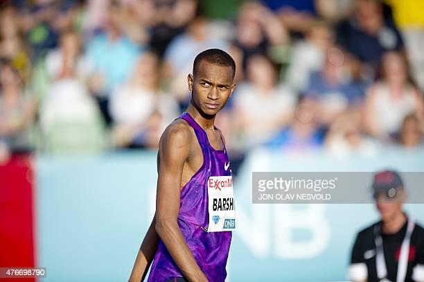 Mutaz Essa Barshim of Qatar competes during the men's High Jump of the Diamond League athletics competition at Bislett Stadium in Oslo, June 11,...