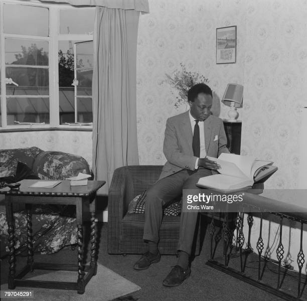 Mutesa II Kabaka of Buganda and deposed President of Uganda at his home in Bermondsey London where he is in exile and studying to be a social worker...