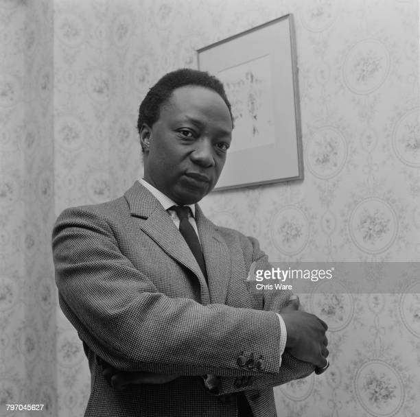 Mutesa II Kabaka of Buganda and deposed President of Uganda at his home in Bermondsey London where he is in exile and training to be a social worker...