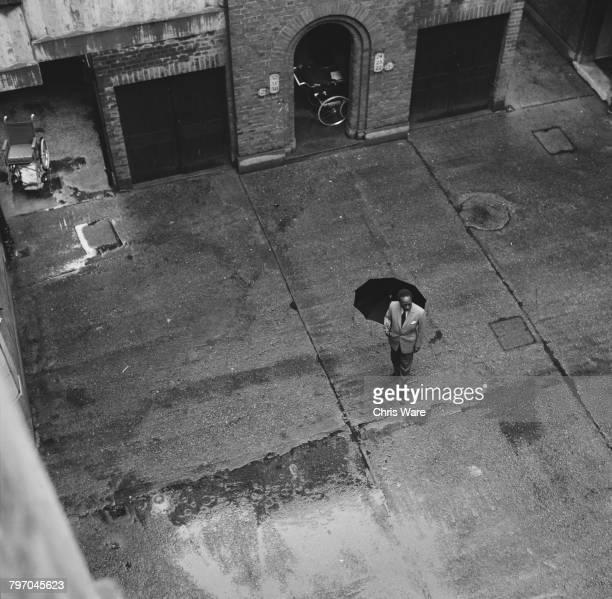 Mutesa II Kabaka of Buganda and deposed President of Uganda in the courtyard of a housing development in Bermondsey London where he now lives in...