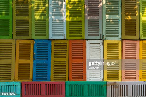 muti colors decorated windows wall background