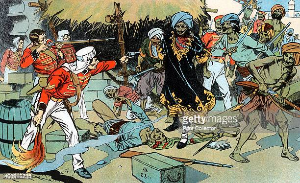 Mutineers attacking the magazine at Delhi Indian Mutiny 11 May 1857 On the orders of Lieutenant George Willoughby who died of his wounds defending...