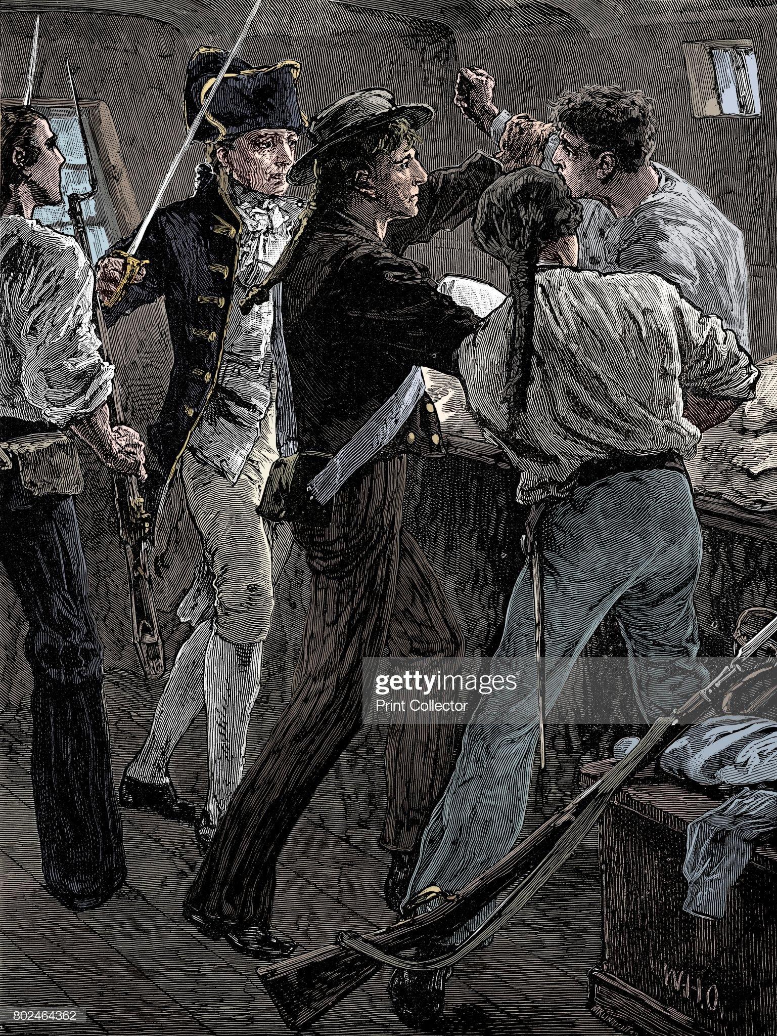Mutiny Of The Crew Of The Bounty 1789 (Late 19th Century) : Fotografía de noticias