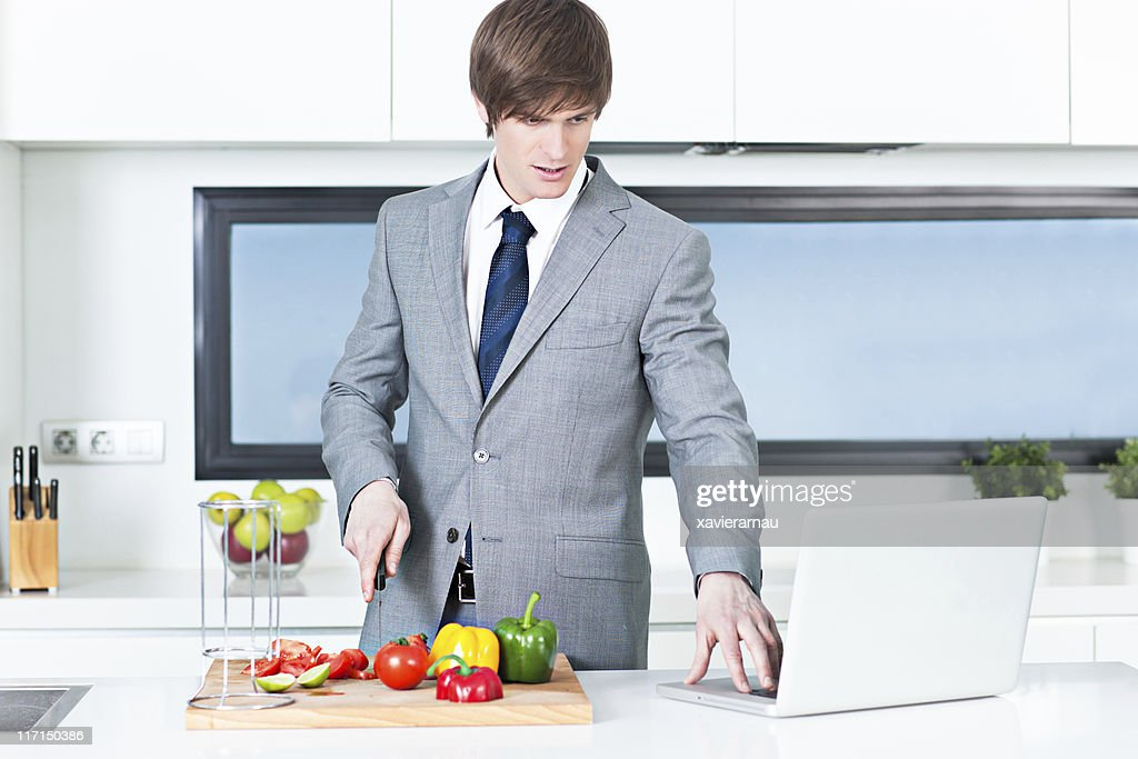 Muti-tasking businessman : Stock Photo