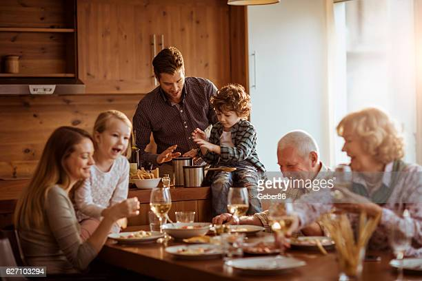 mutli generation family - multigenerational family stock photos and pictures