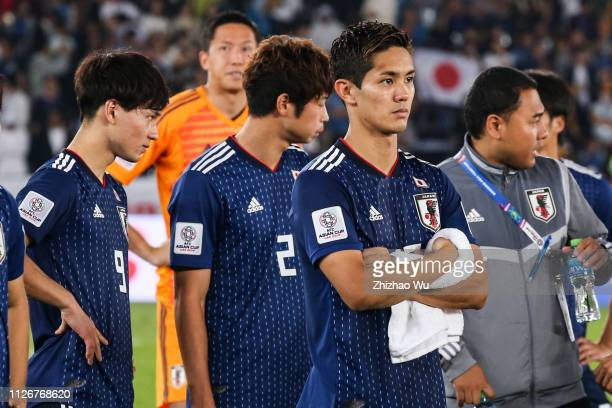 Muto Yoshinori of Japan show his dejection after the AFC Asian Cup final match between Japan and Qatar at Zayed Sports City Stadium on February 01...
