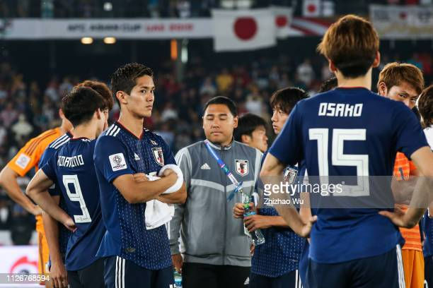 Muto Yoshinori show his dejection after the AFC Asian Cup final match between Japan and Qatar at Zayed Sports City Stadium on February 01 2019 in Abu...