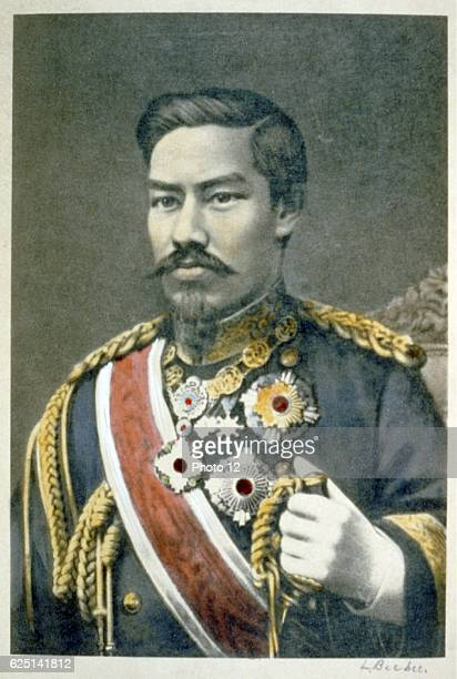 Mutsuhito Emperor Meiji 122nd Emperor of Japan from 1867 During his reign Japan_underwent great political social and industrial changes and became a...
