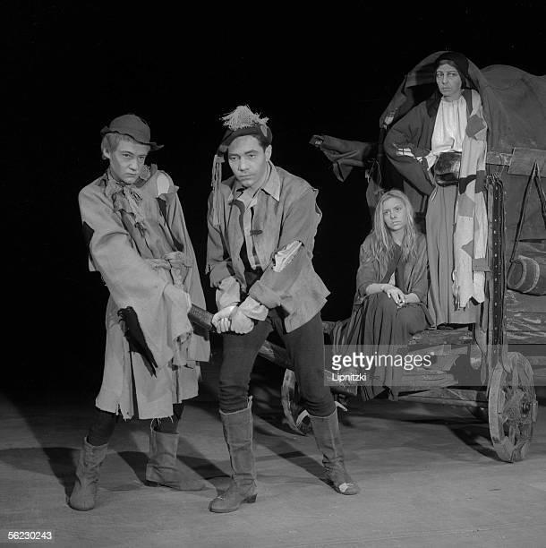 Mutter Courage und ihre Kinder of Bertolt Brecht Production of Jean Vilar JeanPierre Darras Christiane Minazzoli and Germaine Montero Paris TNP...
