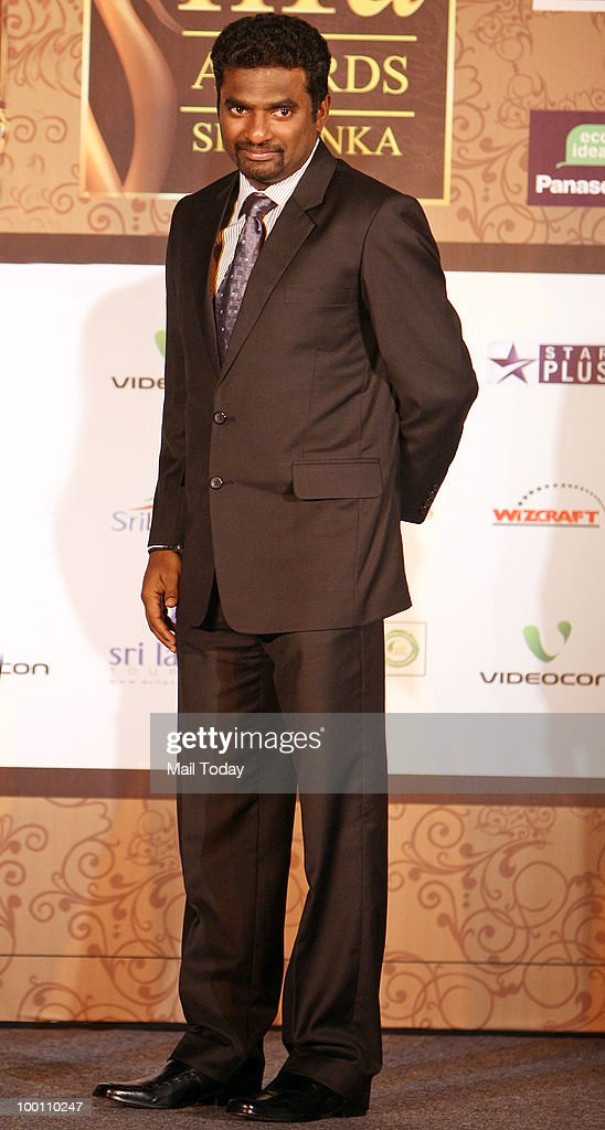Muttiah Muralitharan at an IIFA press conference in New Delhi on May 19, 2010.