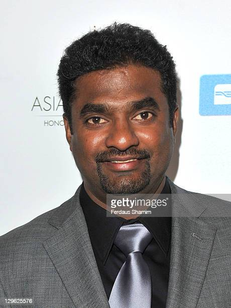 Muttiah Muralitharan attends The Asian Awards 2011 at Grosvenor House, on October 18, 2011 in London, England.