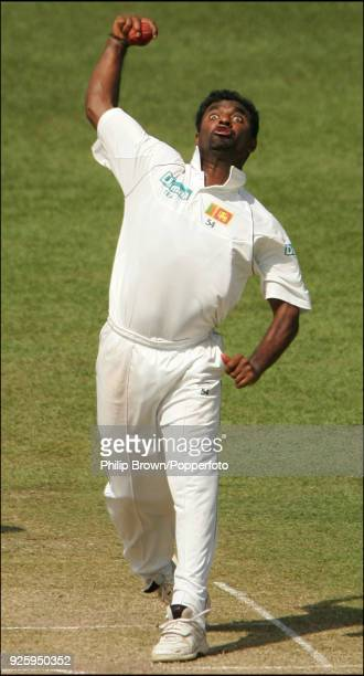 Muttiah Muralitharan bowling for Sri Lanka during the 2nd Test match between Sri Lanka and England at the Sinhalese Sports Club, Colombo, 10th...