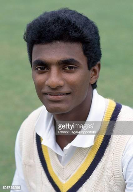 Muttiah Muralitharan of Sri Lanka during the 1991 tour of England, circa August 1991.