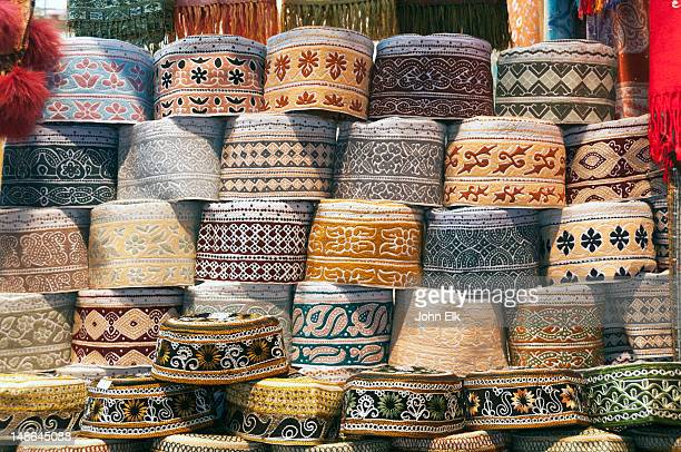 Muttrah souq (souk), Omani men's hats.