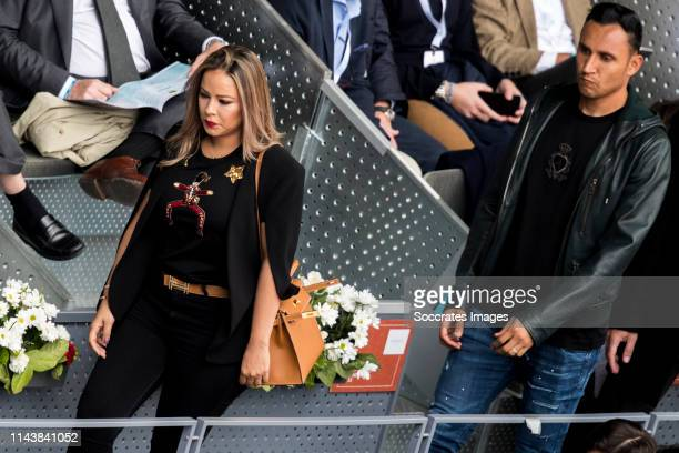 Mutua Madrid Open Andrea Salas Keylor Navas during the match between Mutua Madrid Open Masters v day 5 on May 8 2019 in Madrid Spain