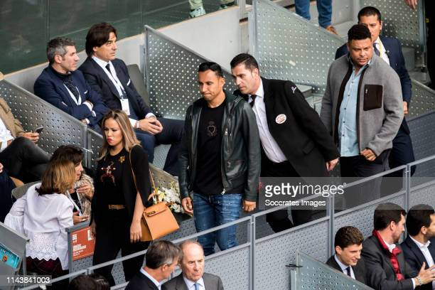 Mutua Madrid Open Andrea Salas Keylor Navas Ronaldo Luis Nazario da Lima during the match between Mutua Madrid Open Masters v day 5 on May 8 2019 in...