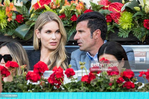 Mutua Madrid Open Helen Svedin Luis Figo during the match between Mutua Madrid Open Masters v day 9 on May 12 2019 in Madrid Spain