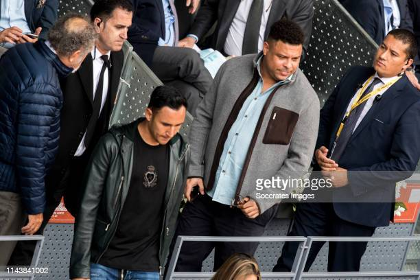 Mutua Madrid Open Ion Tiriac Andrea Salas Keylor Navas Ronaldo Luis Nazario da Lima during the match between Mutua Madrid Open Masters v day 5 on May...