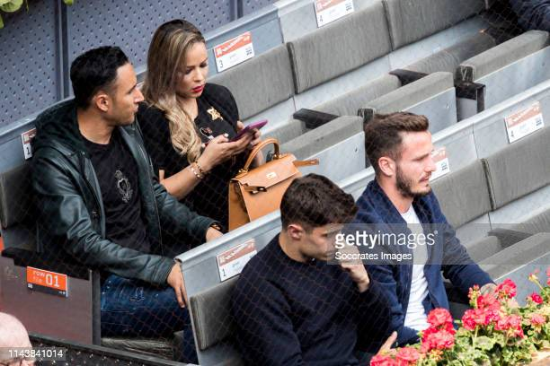 Mutua Madrid Open Keylor Navas Andrea Salas Saul Niguez during the match between Mutua Madrid Open Masters v day 5 on May 8 2019 in Madrid Spain