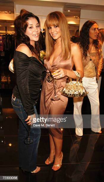 Mutya Buaena and Cheryl Tweedy attend the launch party for the 21st anniversary issue of Elle Magazine hosted by Donatella Versace and Loriane...