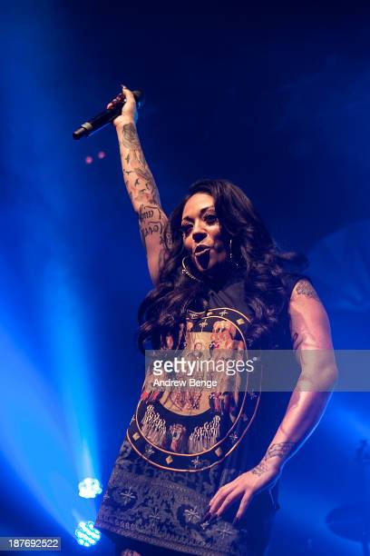 Mutya Buena of Mutya Keisha Siobhan performs on stage at The Ritz Manchester on November 11 2013 in Manchester United Kingdom