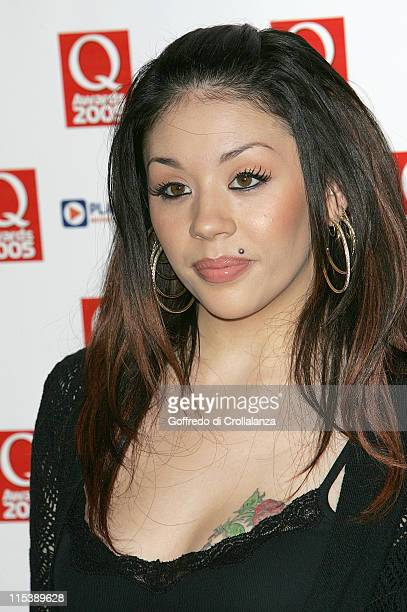 Mutya Buena of Sugababes during 2005 Q Awards at Grosvenor House Hotel Park Lane in London Great Britain