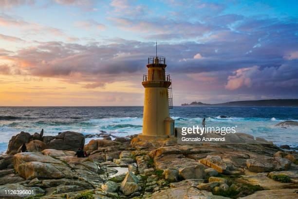 muxía in a coruña province in galicia - galicia fotografías e imágenes de stock