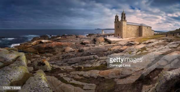 muxia, costa da morte, galicia, spain - camino de santiago stock pictures, royalty-free photos & images