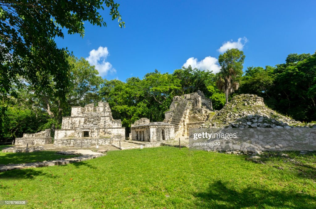 Muyil mayan ruins : Stock Photo