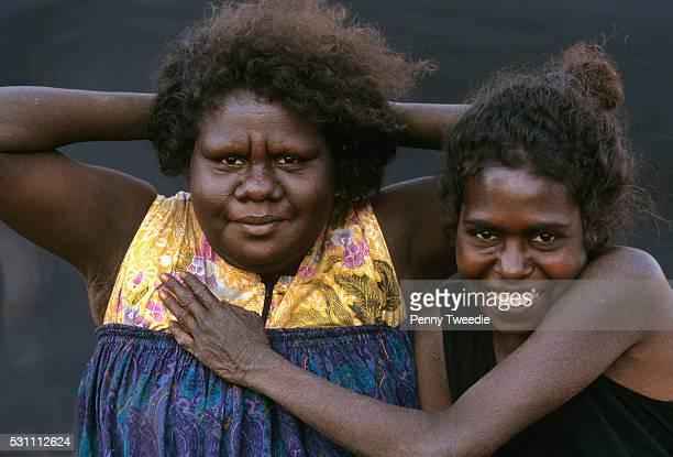 Muyku and May now grown up daughters of David Malangi at Yathalamarra their clan country in central Arnhem Land Muyku is a community nursing...